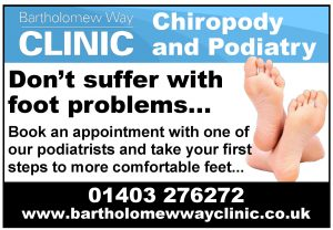 Chiropody Chiropodist Podiatrist care for Billingshurst Loxwood and surrounding areas