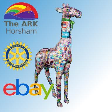 Keith the Giraffe SOLD on Ebay for charity Ark Horsham!!!